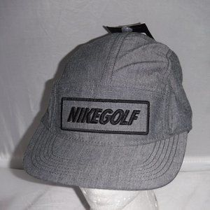 NWT Nike Golf Spellout Gray 5 Panel Hat Cap